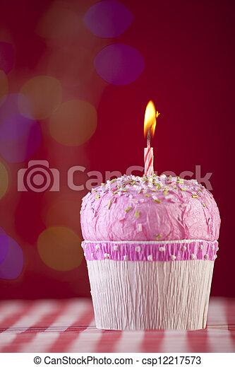 생일, 컵케이크 - csp12217573