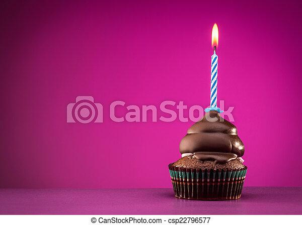 생일, 컵케이크 - csp22796577