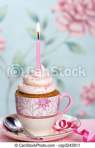 생일, 컵케이크 - csp3243911