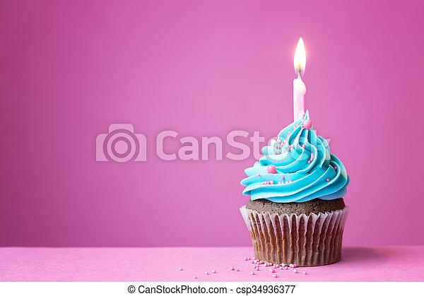 생일, 컵케이크 - csp34936377