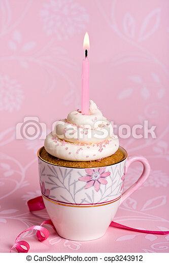 생일, 컵케이크 - csp3243912