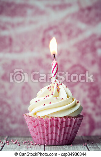 생일, 컵케이크 - csp34936344