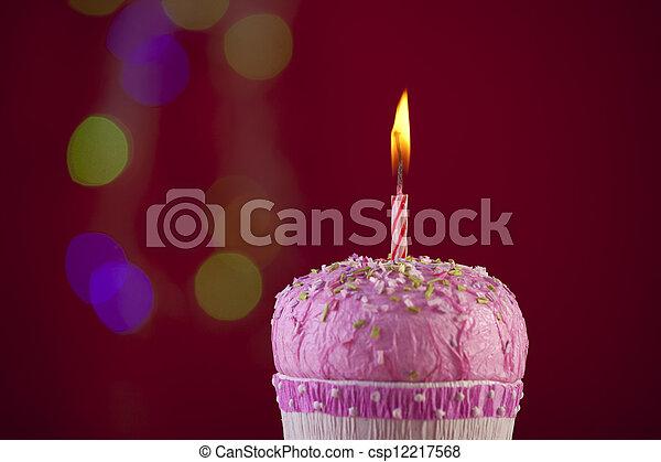 생일, 컵케이크 - csp12217568