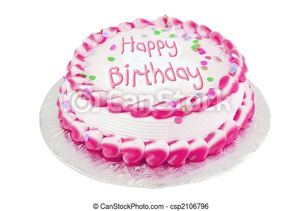 생일 케이크, 핑크 - csp2106796