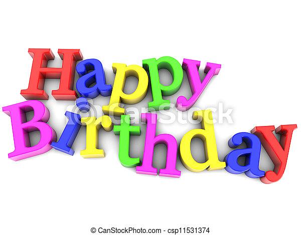 생일, 행복하다 - csp11531374