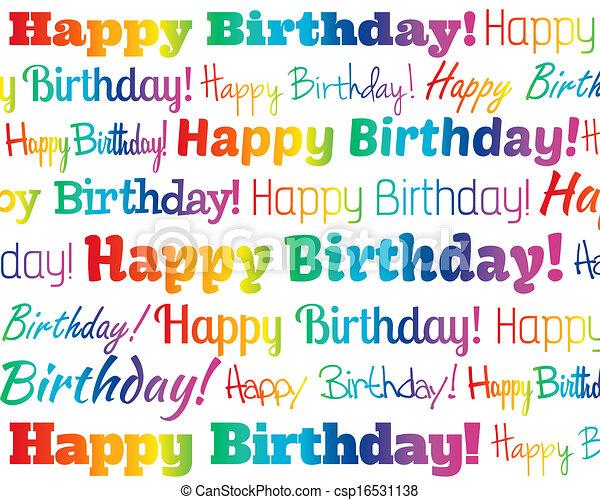 생일, 행복하다 - csp16531138