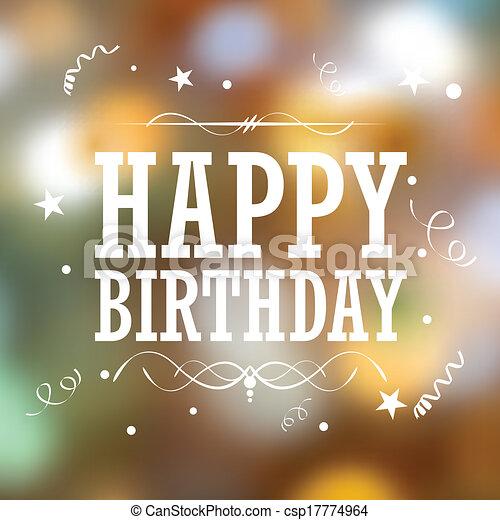 생일, 활판 인쇄술, 배경, 행복하다 - csp17774964