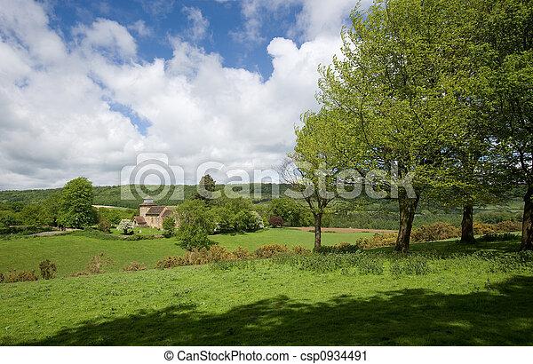 서리, 시골, wotton - csp0934491
