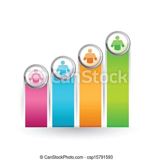 선도, 색, 그래프, 삽화, 디자인, 아이콘 - csp15791593