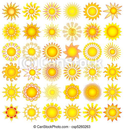 설정되는 태양 - csp5260263