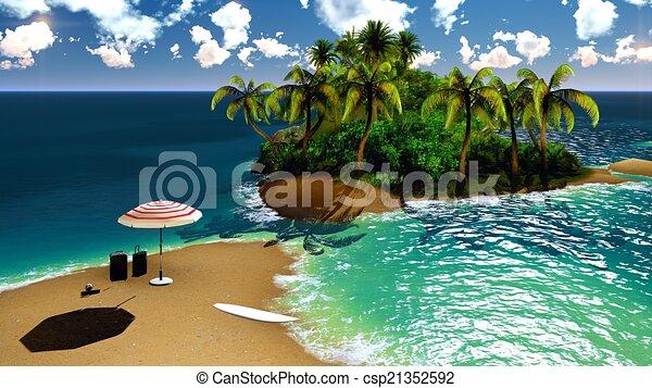 섬, 하와이, 낙원 - Paradise, 통하고 있는, Hawaii, Island, 와, 굉장하다 ...