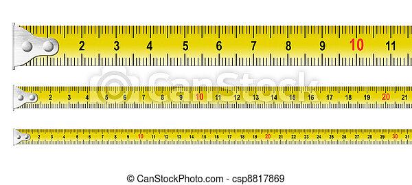 세트, 금속, 고립된, 테이프, 측정 - csp8817869