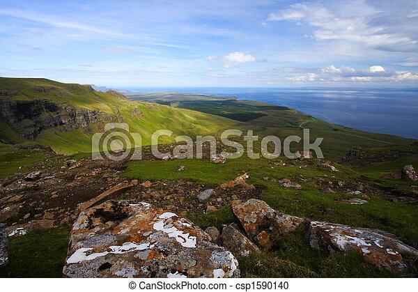 소리, raasay, 스코틀랜드, 가로질러, 보이는 상태 - csp1590140