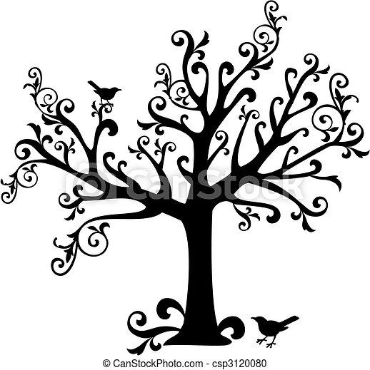 소용돌이, 나무 - csp3120080