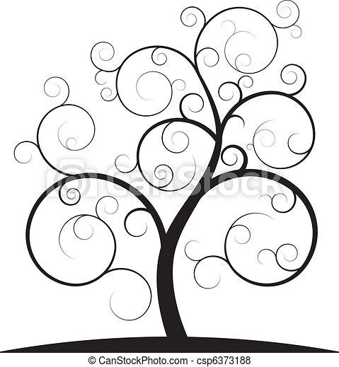 소용돌이, 나무 - csp6373188