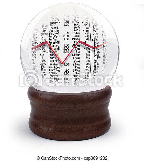 수정 구슬, 시장, 주식 - csp3691232