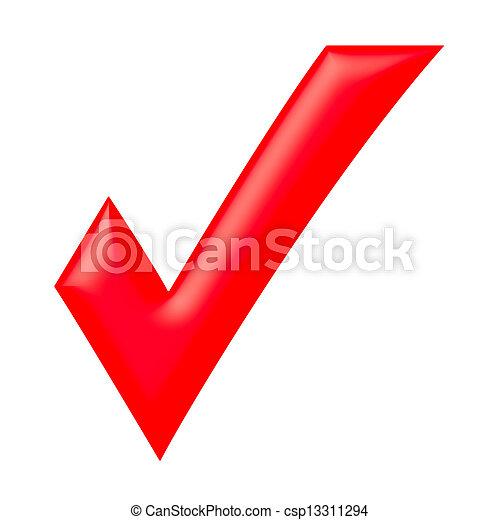 수표, 빨강, 표 - csp13311294