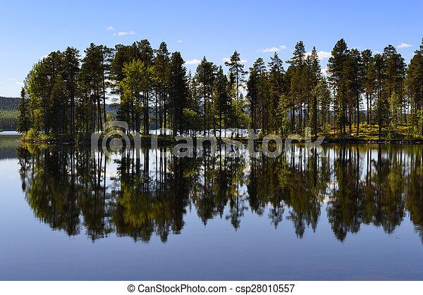 스웨덴어, 호수 - csp28010557