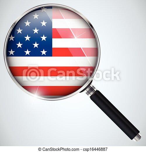 스파이, usa 정부, 나라, 프로그램, nsa - csp16446887