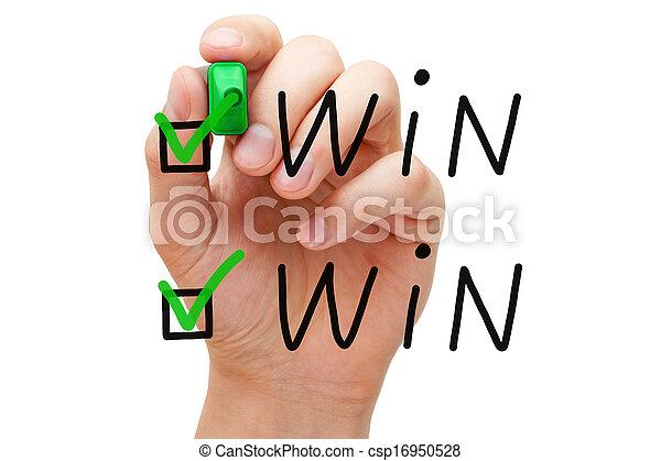 승리, 수표, 기호 - csp16950528