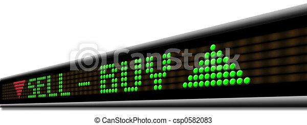 시계, 시장, 주식 - csp0582083