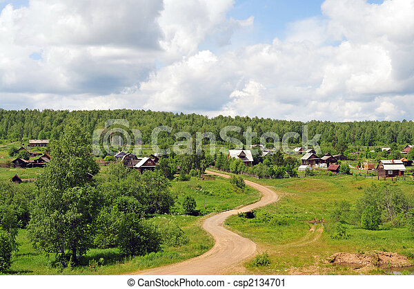 시골, 조경술을 써서 녹화하다 - csp2134701