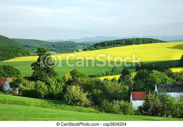 시골, 폴란드어, 조경술을 써서 녹화하다 - csp3604204