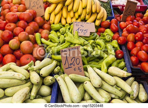 시장, 농부 - csp15203448