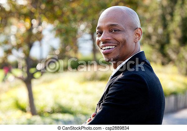 실업가, 미국 영어, 중앙의 성인, african - csp2889834
