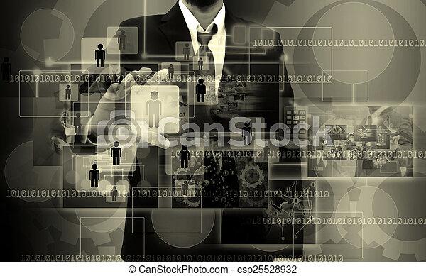 실업가, 오른쪽, 선택하는, 사람 - csp25528932