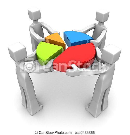 실행, 개념, 팀웍, 업적, 사업 - csp2485366