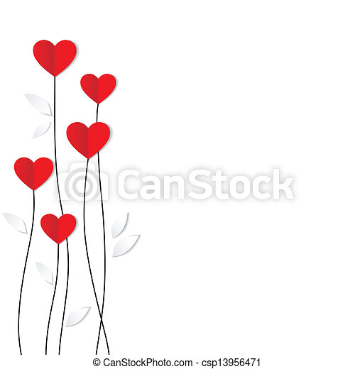 심장, card., paper., 연인, 휴일, 일 - csp13956471