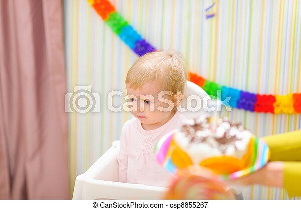 아기, 생일, 전복, 처음, 축하 - csp8855267