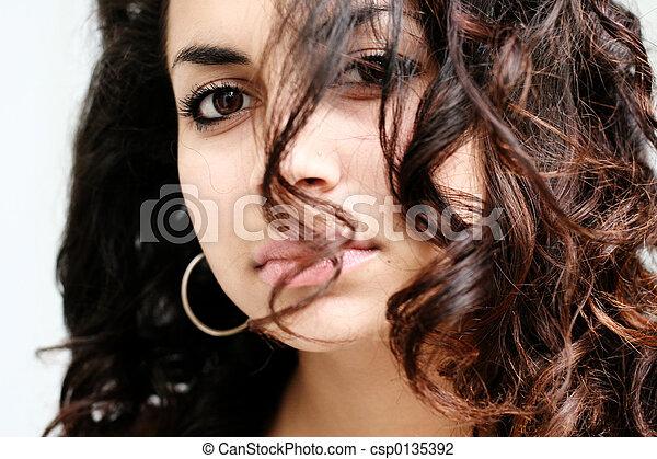 아름다운, 소녀 - csp0135392