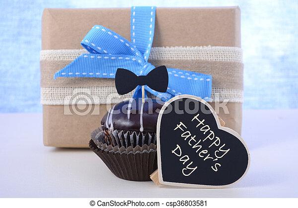 아버지, 컵케이크, gift., 일 - csp36803581