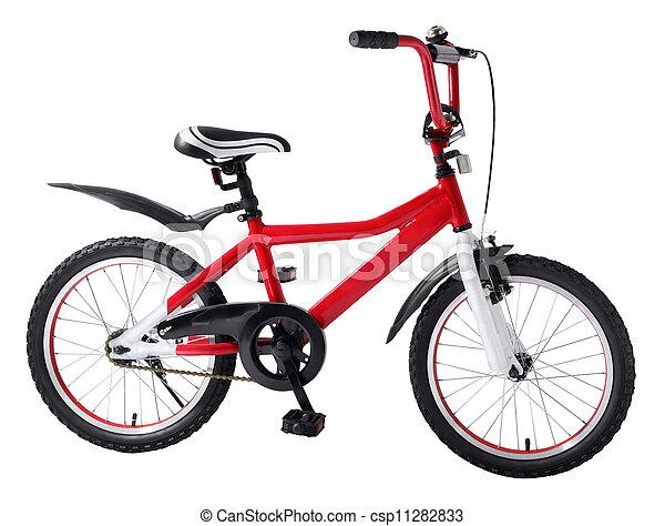 아이들, 자전거 - csp11282833