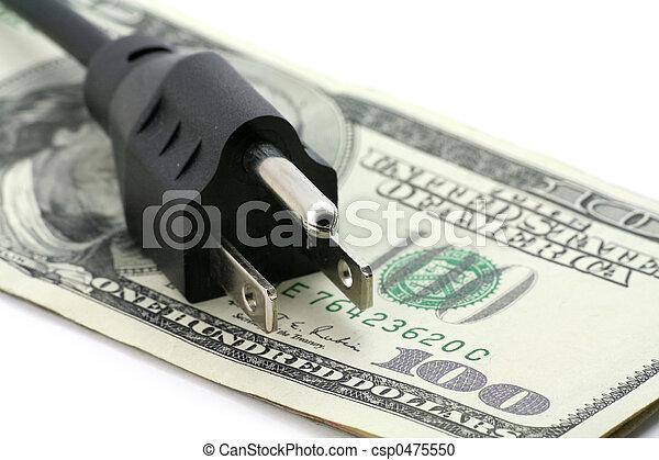 에너지, 개념, 계산서, 비싸다 - csp0475550