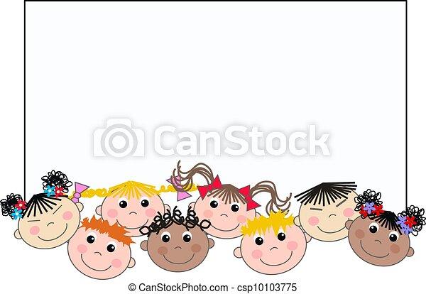 여러 잡다한 인간으로 이루어진, 아이들, 소수 민족의 사람 - csp10103775