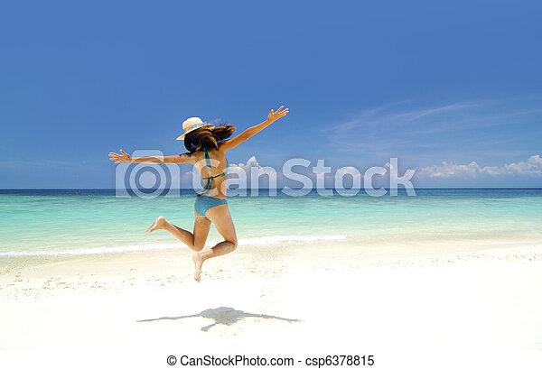 여름, 자유 - csp6378815