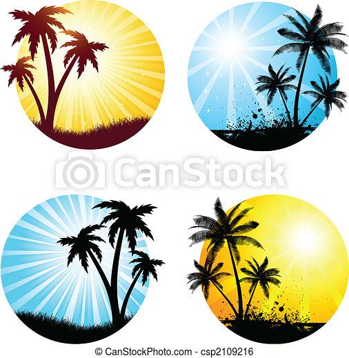 여름, 장소 - csp2109216