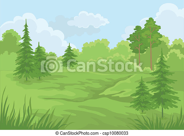 여름, 조경술을 써서 녹화하다, 숲 - csp10080033