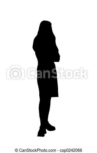 여자, 고립된, 나이 적은 편의 - csp0242066