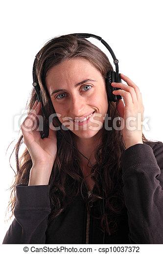여자, 듣는음악 - csp10037372
