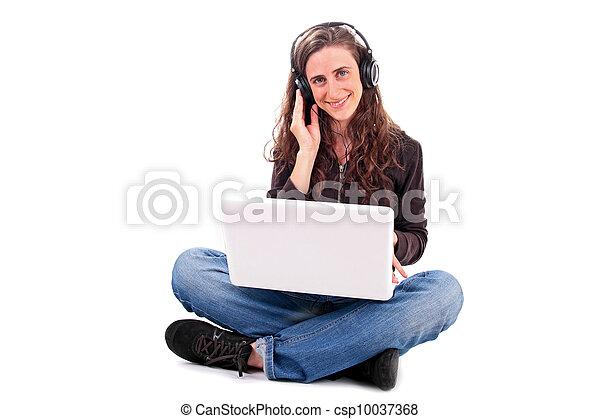 여자, 듣는음악 - csp10037368