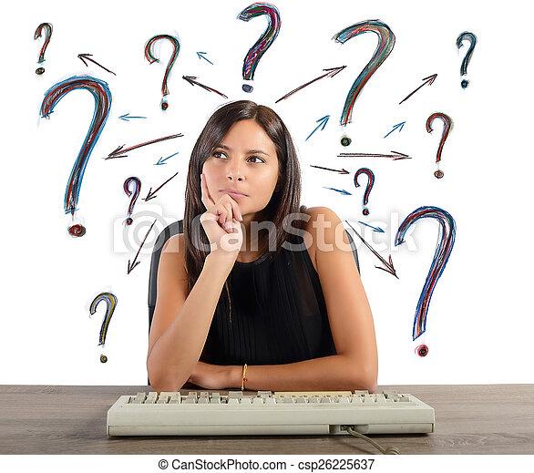 여자 실업가, 질문 - csp26225637