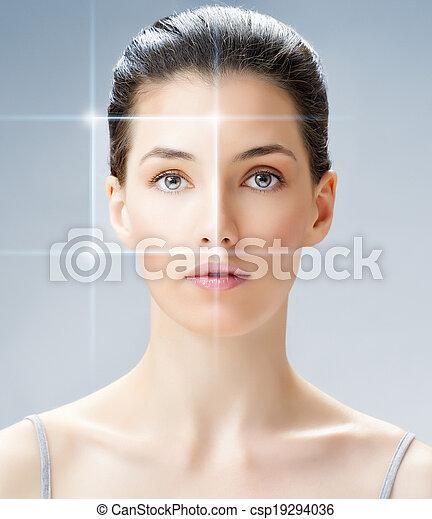 여자, 아름다움 - csp19294036