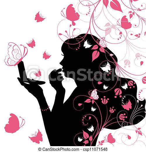 여자, 아름다움 - csp11071548