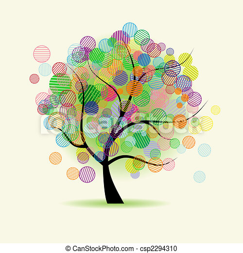 예술, 나무, 공상 - csp2294310