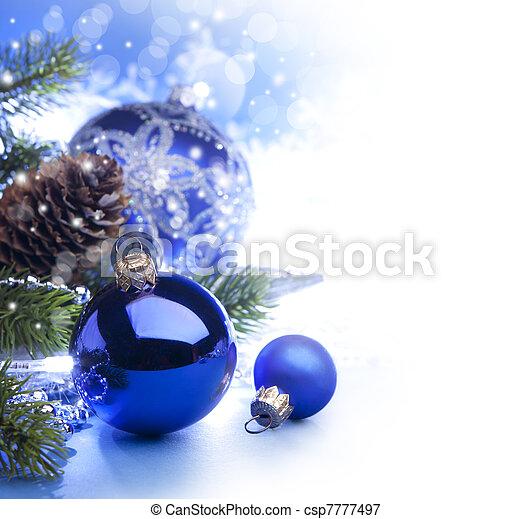 예술, 크리스마스 카드, 인사 - csp7777497