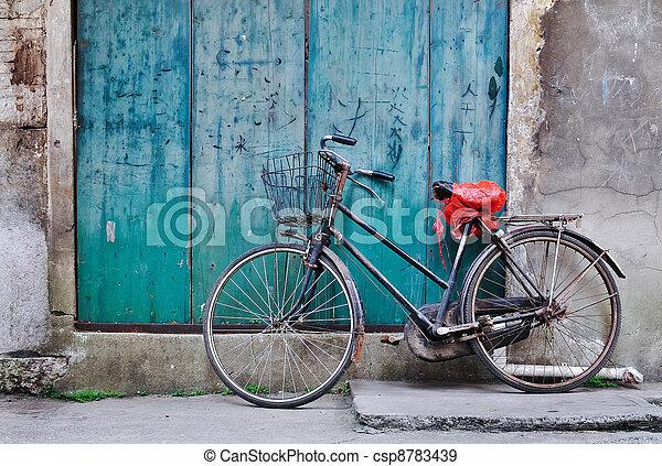 오래되었던 자전거, 중국어 - csp8783439